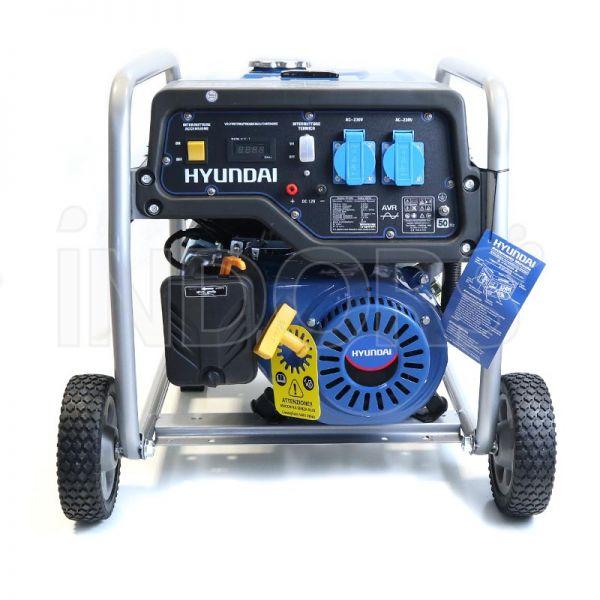 Hyundai dynamic 65011 hy4000 gruppo elettrogeno carrellato avr for Generatore di corrente hyundai hy 3000 3 kw