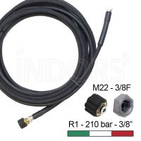 """Tubo Alta Pressione R1 - 1/4"""" NERO 10 m - 3/8F-M22"""
