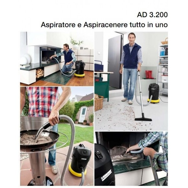 karcher ad 3 premium fireplace aspirapolvere aspiracenere per stufe e caminetti. Black Bedroom Furniture Sets. Home Design Ideas