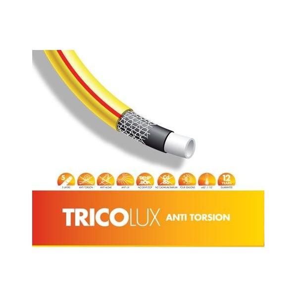 Tubo tricolux 50 metri mt per innaffiare 5 8 giardino 5 for Tubo giardino 5 8