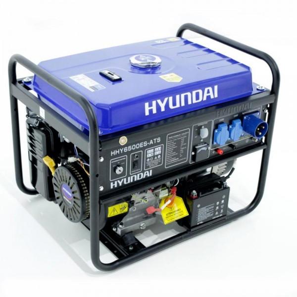 Hyundai hy 6500 es ats generatore di corrente for Generatore di corrente con avviamento automatico
