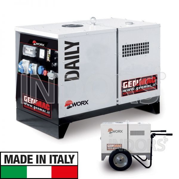 Genmac daily gruppo elettrogeno diesel for Gruppo elettrogeno diesel 10 kw