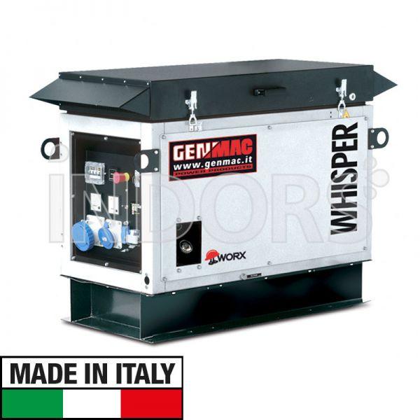Genmac Whisper-Gas RG10000KS NG - Gruppo Elettrogeno a Gas GPL