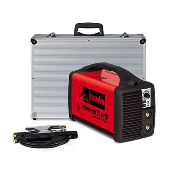 Technology 216 HD Telwin - Saldatrice Elettrodo e Tig + Valigetta Accessori