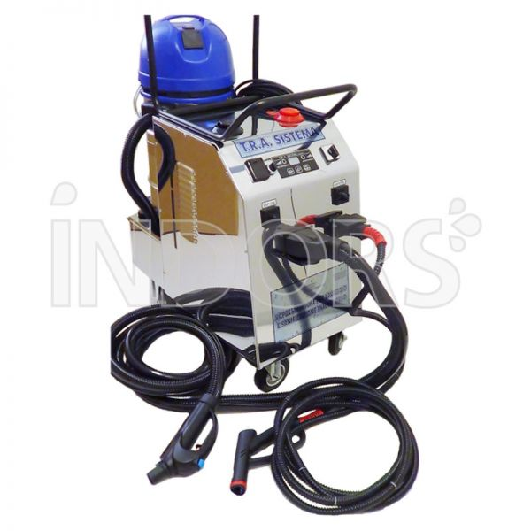 Tra sistema pulitore a vapore professionale con aspirazione for Pulitore a vapore con aspirazione