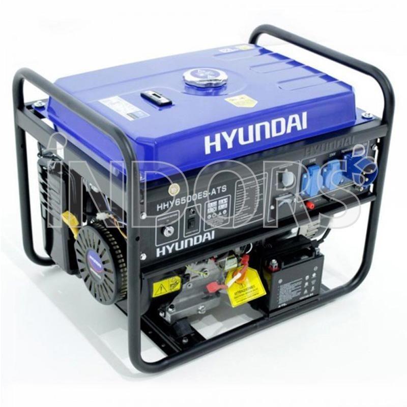Hyundai HY6500ES-ATS Generatore Monofase 5,5 KW con Quadro avviamento Automatico