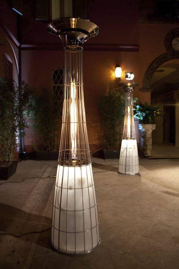 Lampada riscaldamento per esterno a gas for Lampade da esterno
