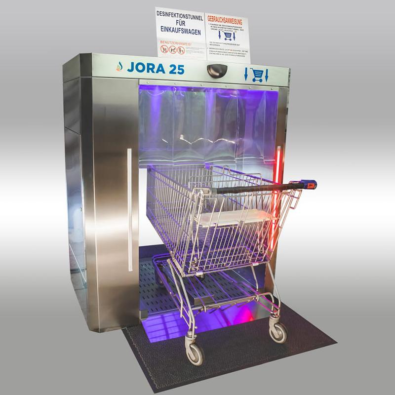 Sanitation of Jora 25 supermarket trolleys
