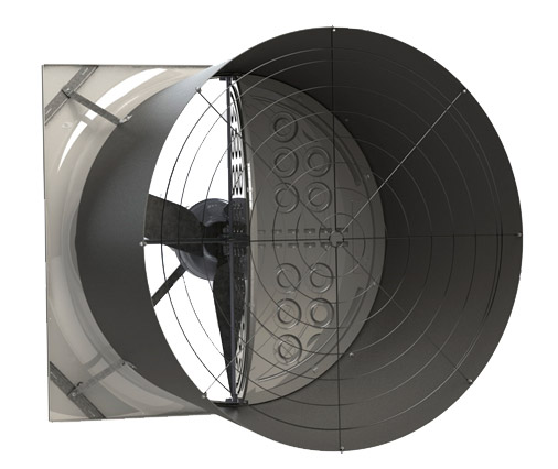 air extractor for darkening greenhouses
