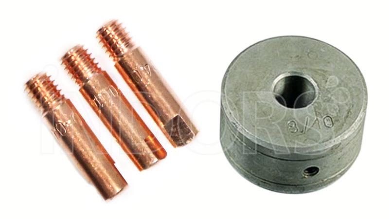Rullino Trainafilo Ferro Alluminio e Ugelli Porta Corrente