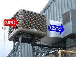 impianto di condizionamento con sistema evaporativo